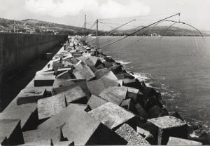 Anni '60 trabocchi sul molo nord (scomparsi)