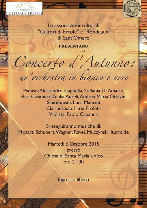 CONCERTO D'AUTUNNO: UN'ORCHESTRA IN BIANCO E NERO