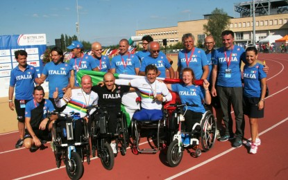 La nazionale di ciclismo Paralimpico in ritiro a Pineto