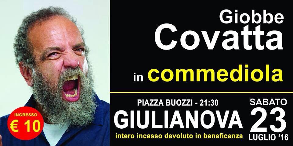 A Giulianova, Giobbe Covatta con lo spettacolo Commediola