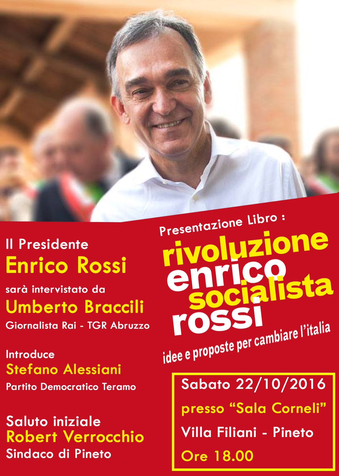 Rivoluzione Socialista, Enrico Rossi presenta il suo libro