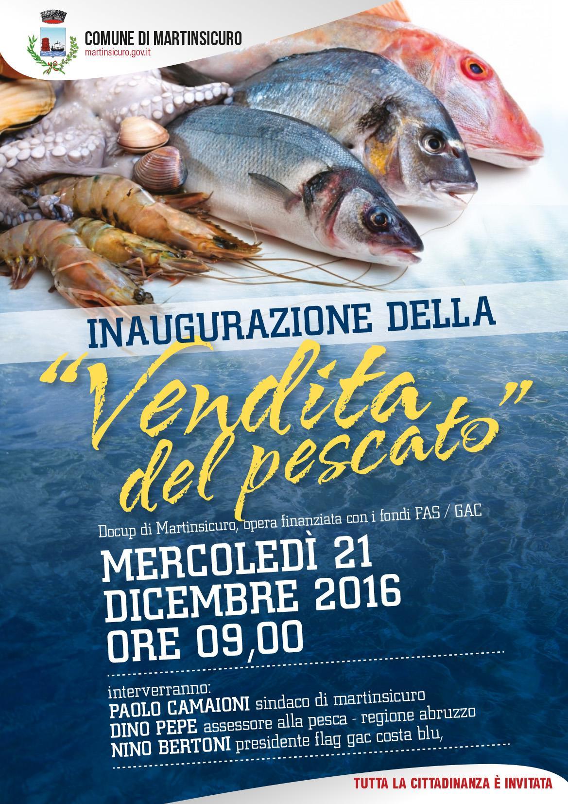 A Martinsicuro inaugurazione della Vendita del Pescato