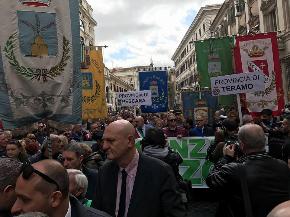 manifestazione roma decreto sisma