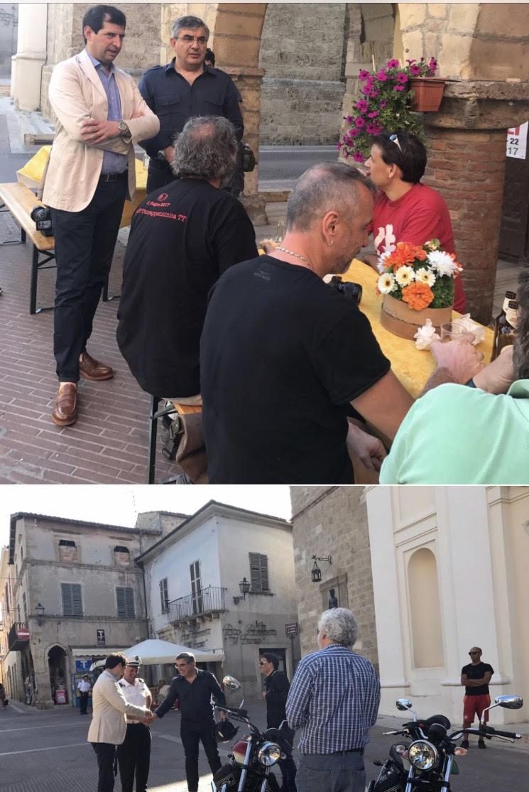 Il turismo slow scopre Campli a bordo delle Moto Guzzi