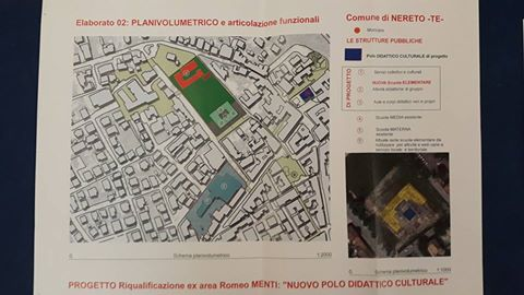 Nereto, nuovo polo didattico culturale nell'area dell'ex campo Romeo Menti