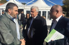 Sindaco Ancarano Pietrangelo Panichi con ministro ambiente Galletti e On Borghi