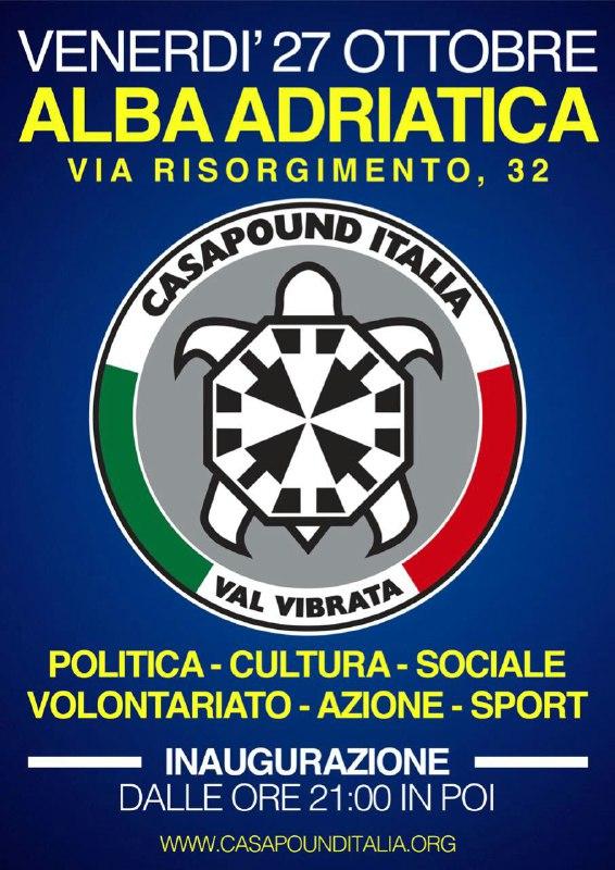 Inaugurazione della nuova sede di CasaPound Italia ad Alba Adriatica