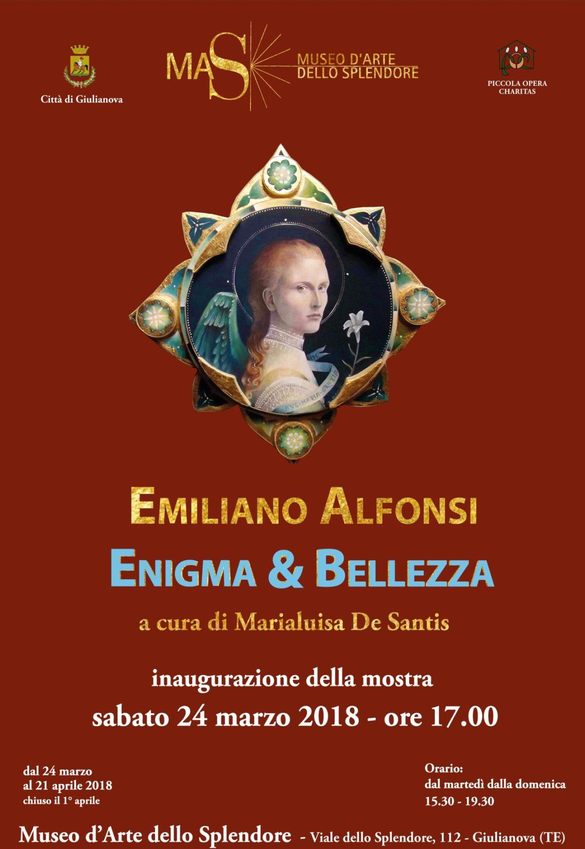 """Al Museo dello Splendore la mostra """"Enigma & Bellezza"""" di Alfonsi"""