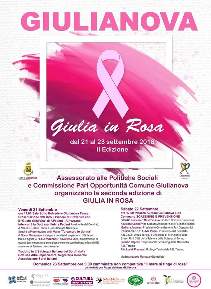 """Torna""""Giulia in Rosa"""", dedicata alla prevenzione dei tumori"""