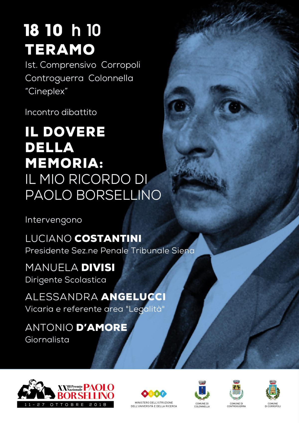 L'Istituto Comprensivo di Corropoli incontra il giudice Luciano Costantini