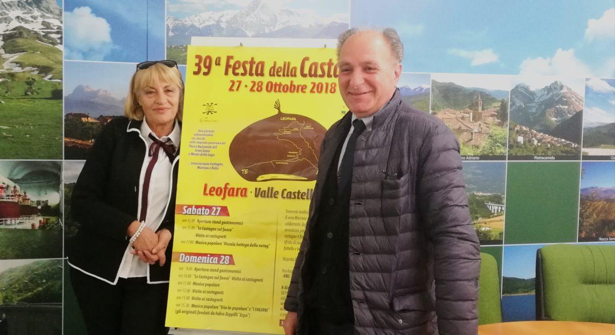 Tutto pronto per  la festa della castagna di Leofara di Valle Castellana