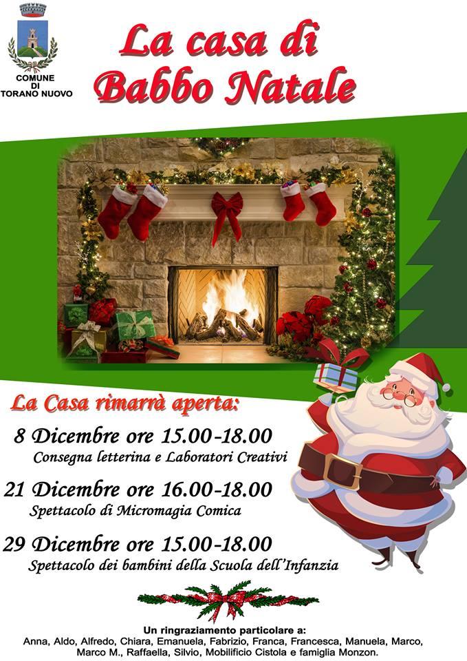 Tutto pronto per la casa di Babbo Natale a Torano Nuovo