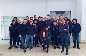 Gli studenti del LAB TV del Liceo D'Annunzio