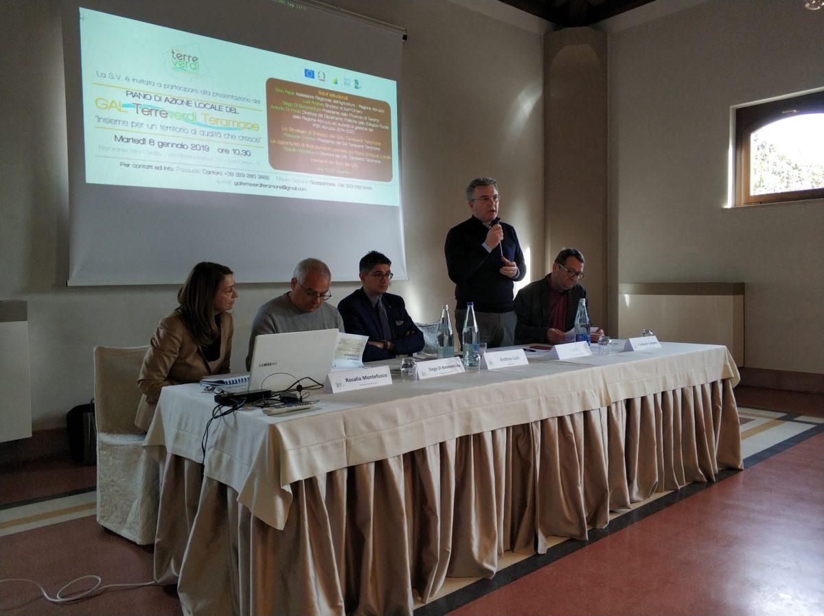 """Sant'Omero, presentato il """"Gal Terreverdi Teramane"""": 6 milioni da investire sul territorio"""
