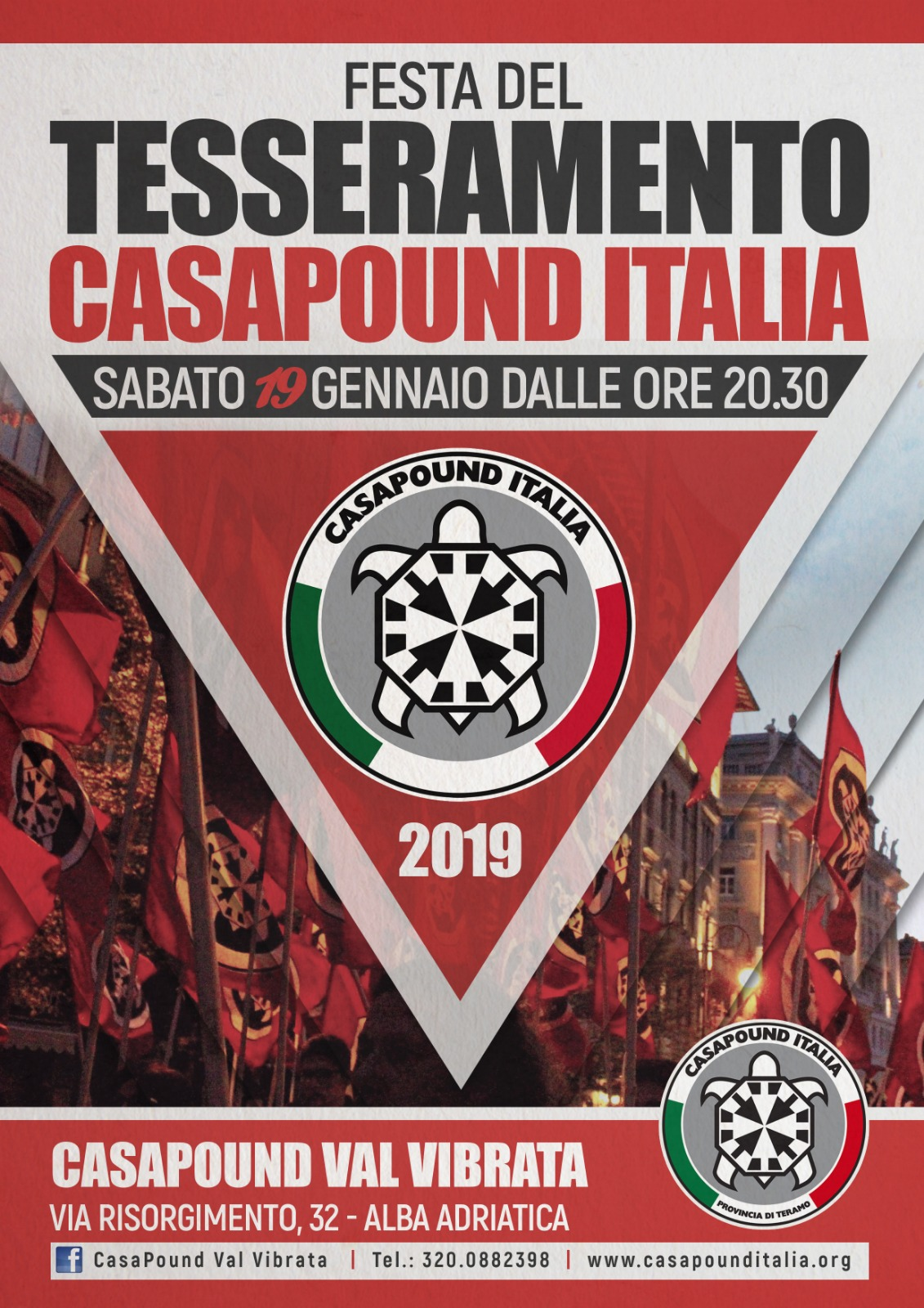 Alba Adriatica, festa del tesseramento: riparte la campagna adesioni a CasaPound