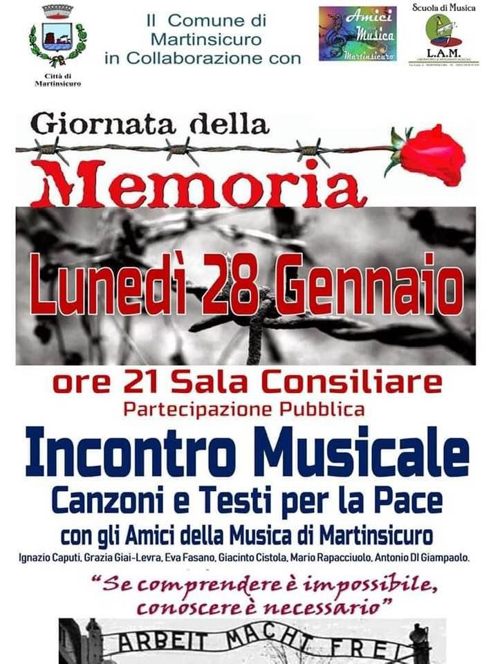 Giornata della Memoria: una serie di iniziative a Martinsicuro