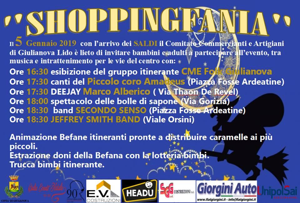 """""""Shoppingfania""""a Giulianova: shopping, musica e divertimento per le vie del centro"""