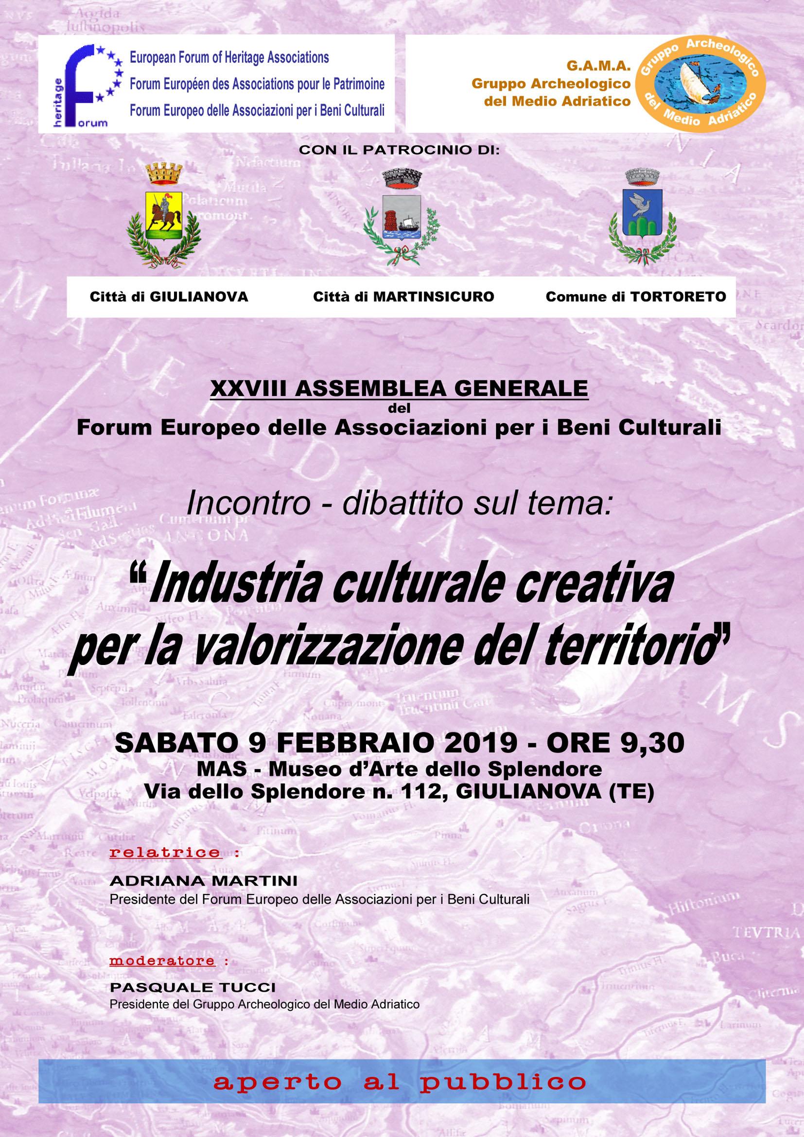 A Giulianova il Forum Europeo delle associazioni per i beni culturali
