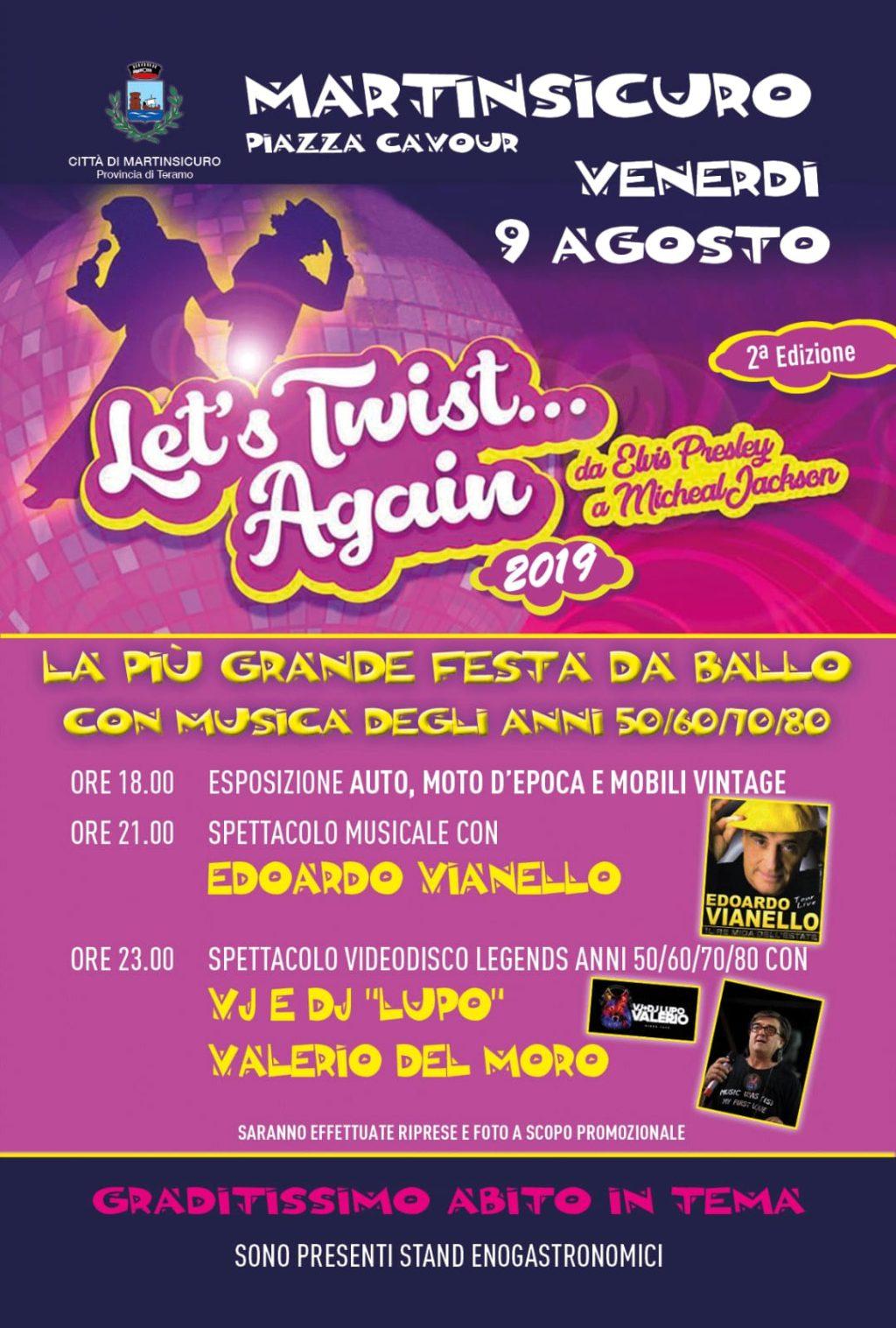 """""""Let's Twist Again"""", a Martinsicuro la più grande festa da ballo"""