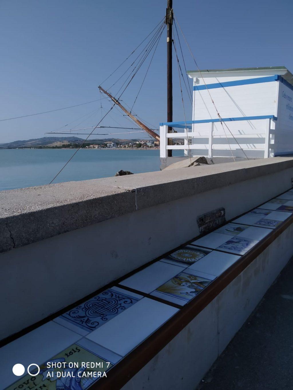 Passeggiata di Castelli al porto di Giulianova