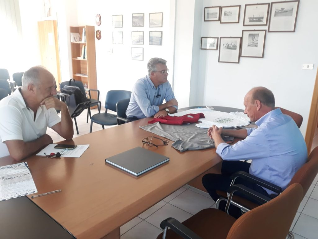 Porto Giulianova, visita di Pepe per monitorare l'avanzamento dei lavori