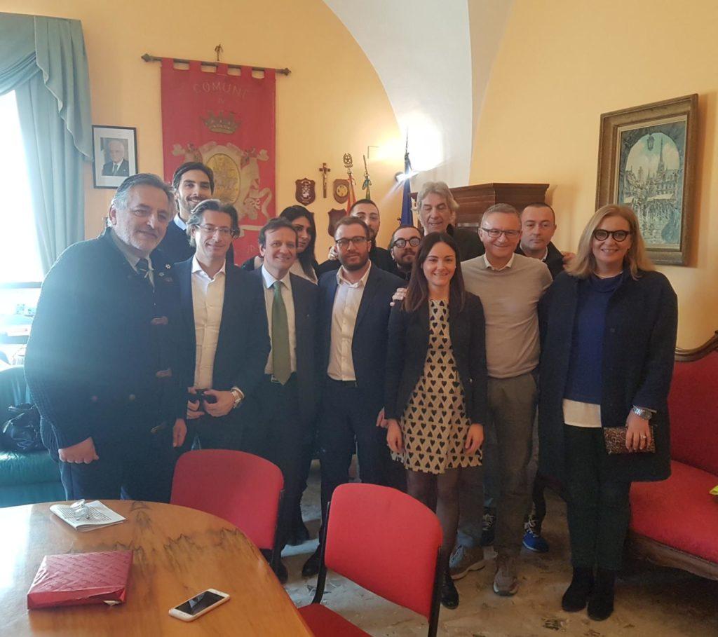 Giulianova, il sindaco Costantini riceve la visita del Sottosegretario D'Annuntiis