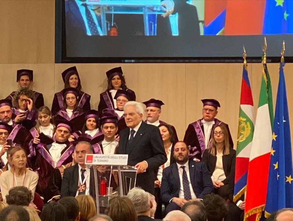 Mattarella all'Università di Teramo per inaugurazione anno accademico