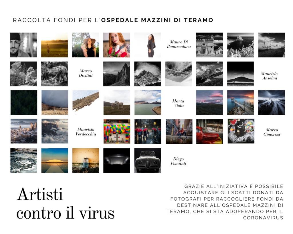"""""""Artisti contro il virus"""":raccolta fondi per l' ospedale Mazzini di Teramo"""
