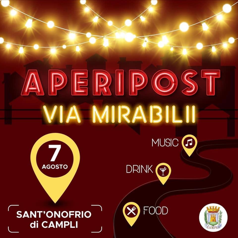 A Sant'Onofrio torna l'Aperipost: aperitivi e musica dal vivo in via Mirabilii