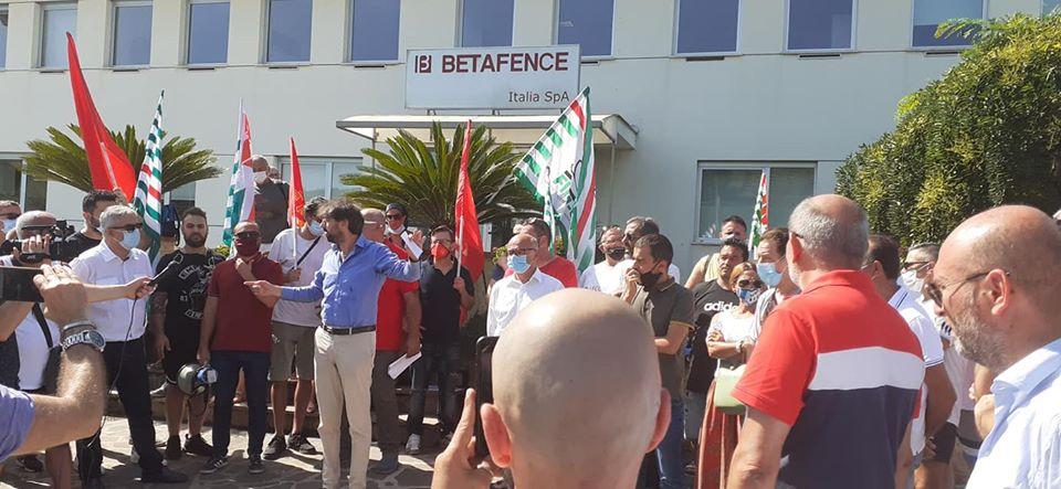 """Betafence, Zennaro: """"Tavolo fermo al Ministero, tenere alta attenzione"""""""