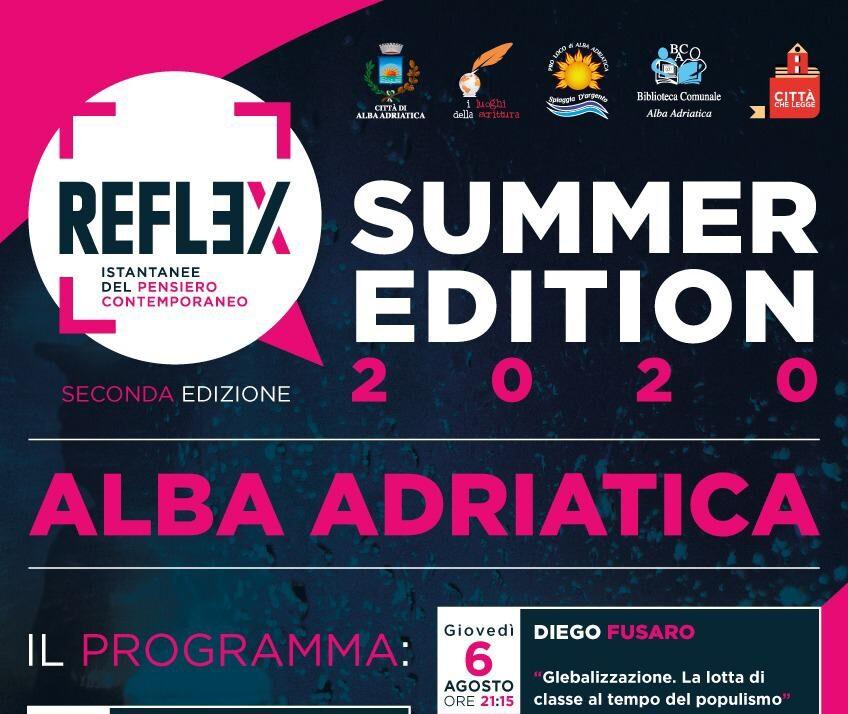 Alba Adriatica, 4 serate con Reflex istantanee del pensiero contemporaneo