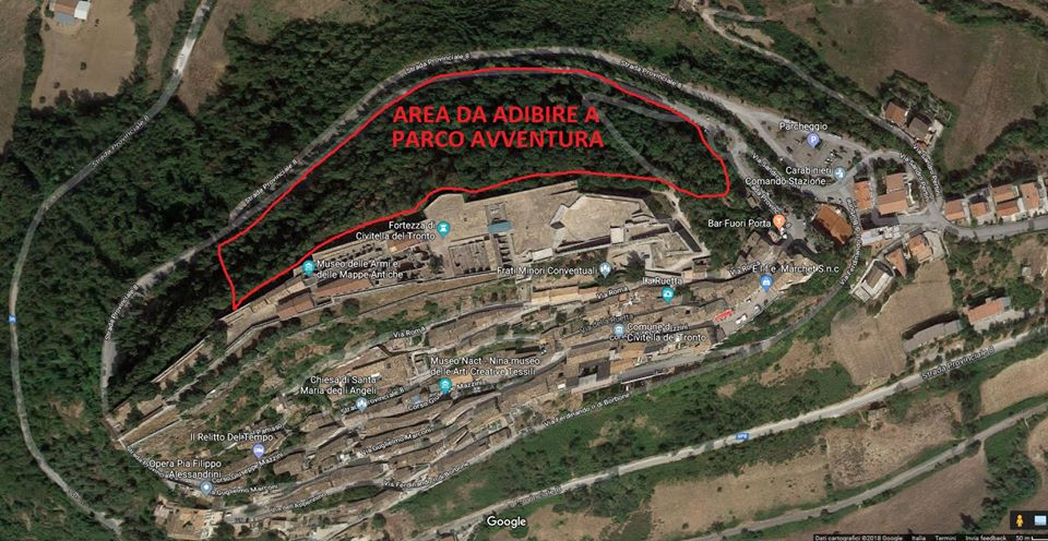 A Civitella del Tronto nasce un Parco Avventura nella pineta