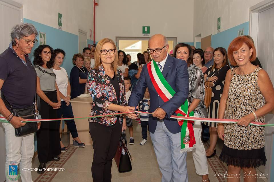 Inaugurata la nuova scuola dell'infanzia a Tortoreto paese