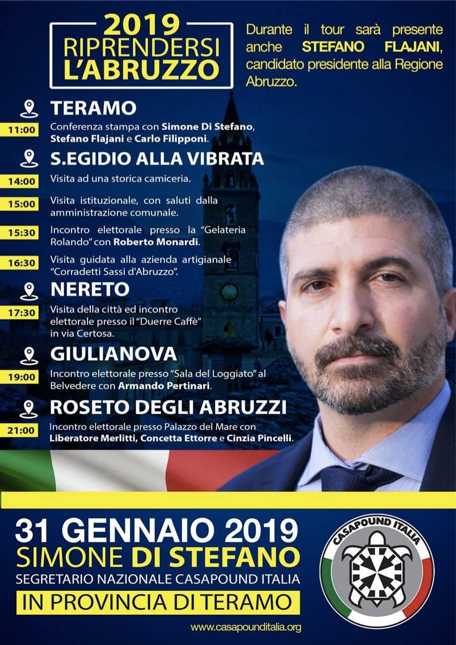 Regionali, Di Stefano (CasaPound) fa tappa in Val Vibrata