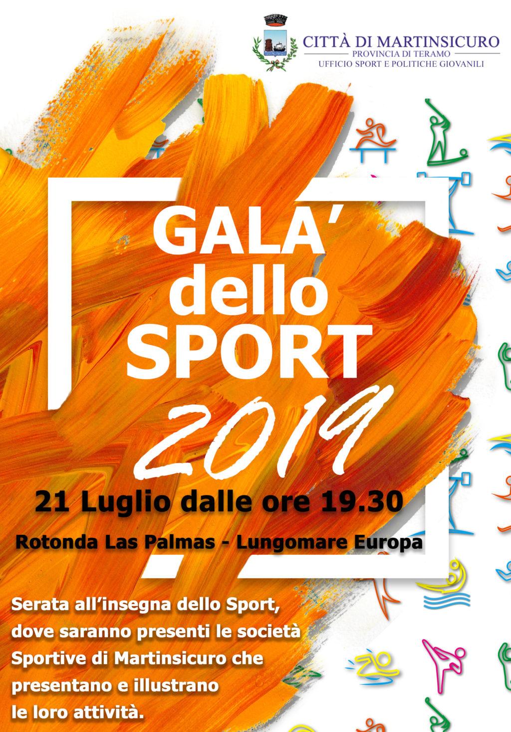 """Martinsicuro, al via il """"Galà dello Sport 2019"""" sul lungomare Europa"""