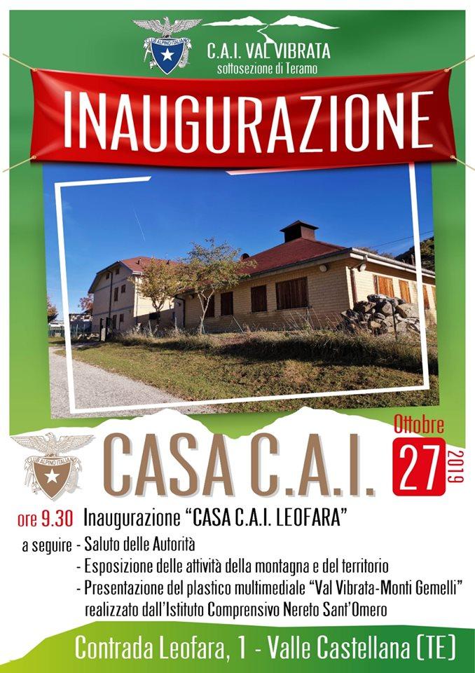 A Leofara di Valle Castellana l'inaugurazione di Casa C.A.I