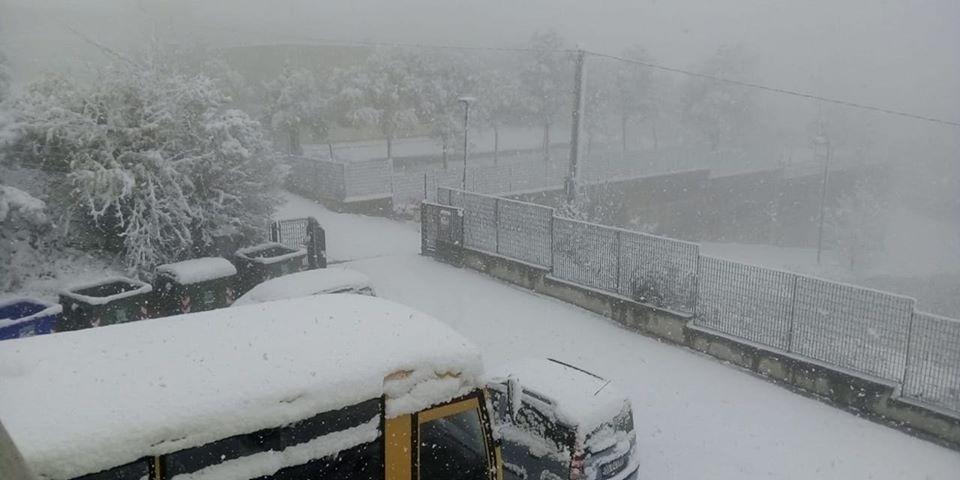 Neve ad Ancarano: divieto di transito in via della Carrozza e via Massoni