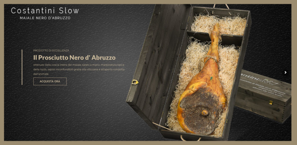 COSTANTINI SLOW. Assaggia il Prosciutto Nero d'Abruzzo: dall'allevatore al consumatore
