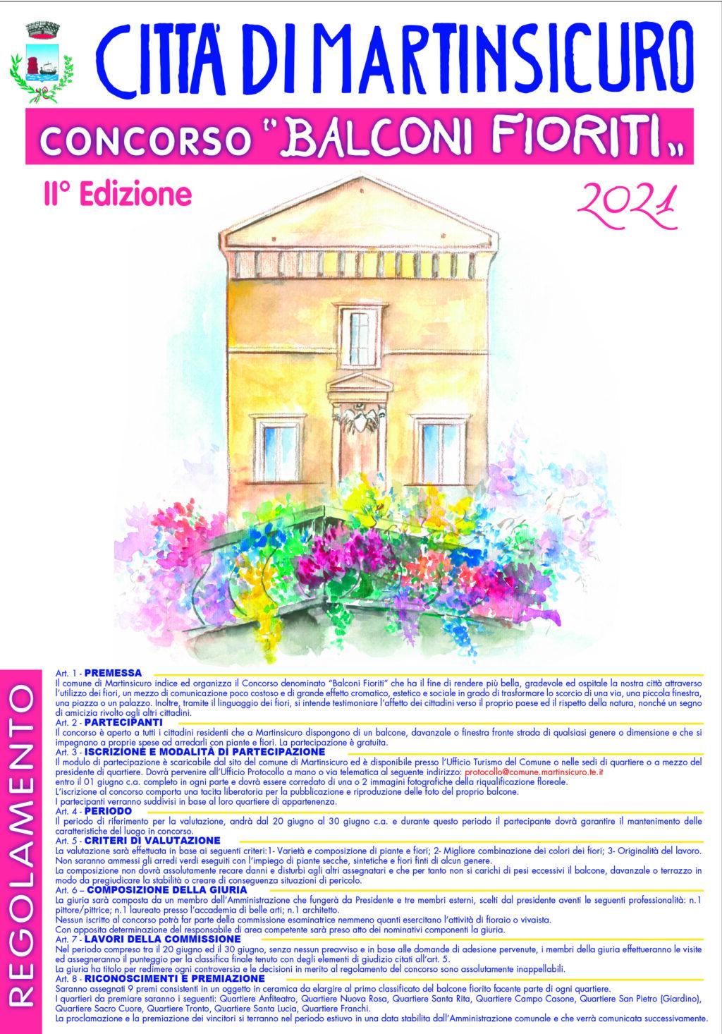 Martinsicuro, al via la seconda edizione di Balconi fioriti