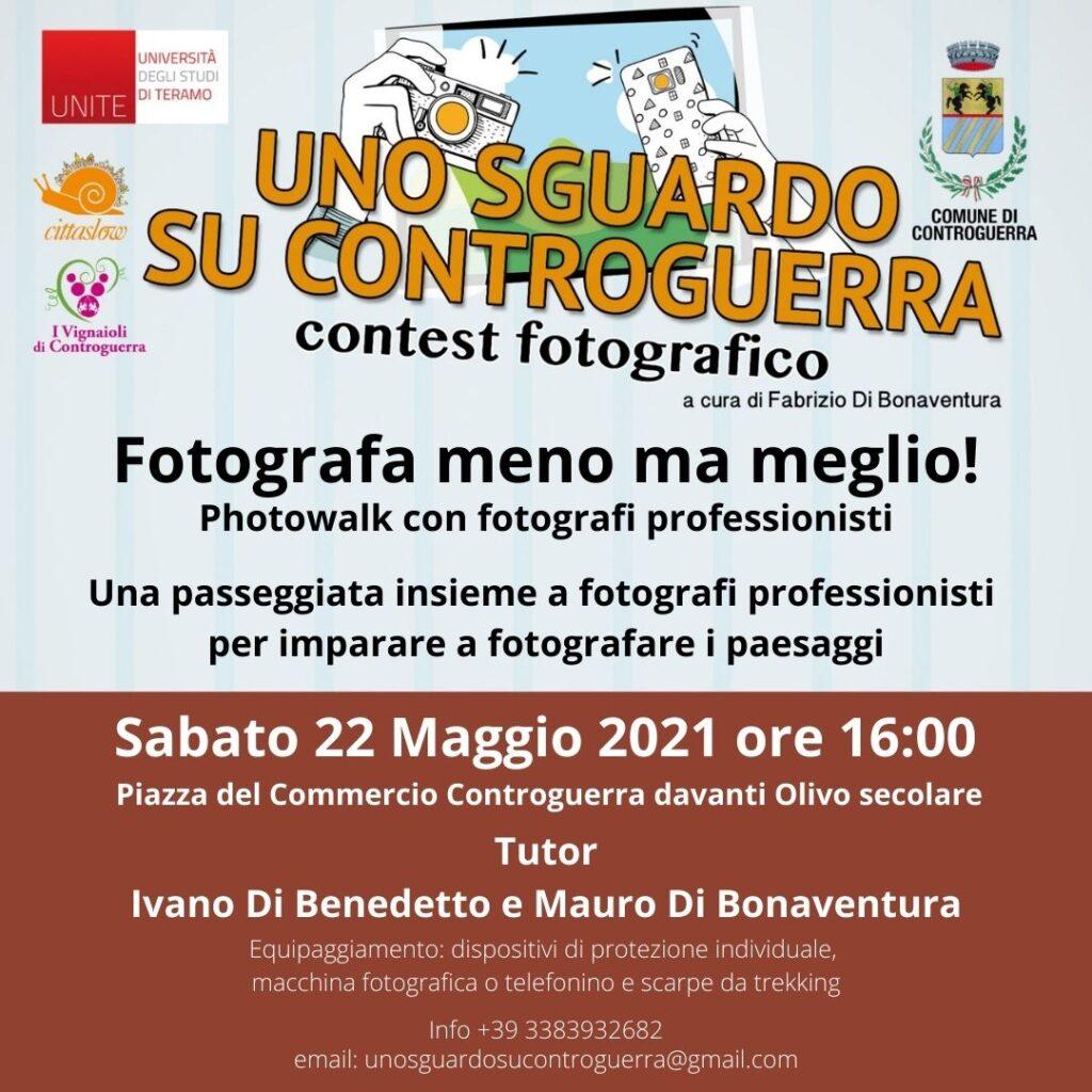 """Controguerra, """"Fotografa di meno ma meglio – Photowalk con fotografi professionisti"""""""