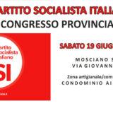 """Nuovo Congresso provinciale del PSI: """"Pronti a ripartire"""""""