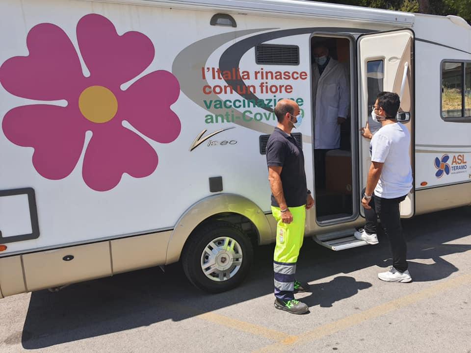 Giulianova, arriva il camper della Asl per vaccinazioni