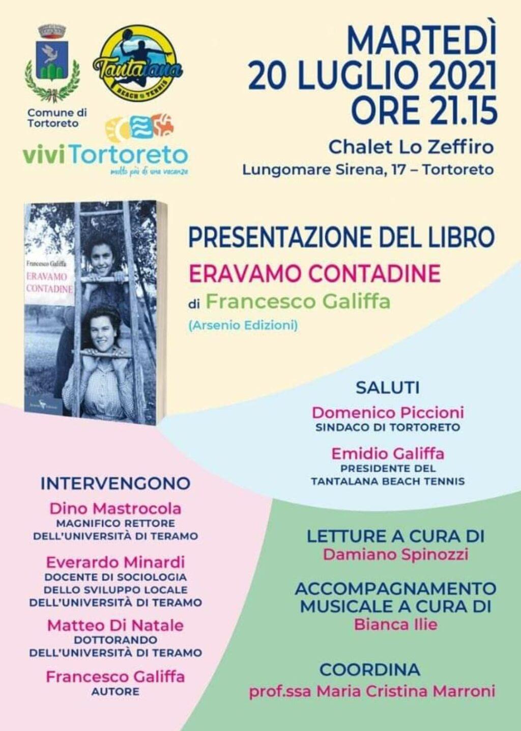 """A Tortoreto la presentazione del libro """"Eravamo contadine"""" di Francesco Galiffa"""