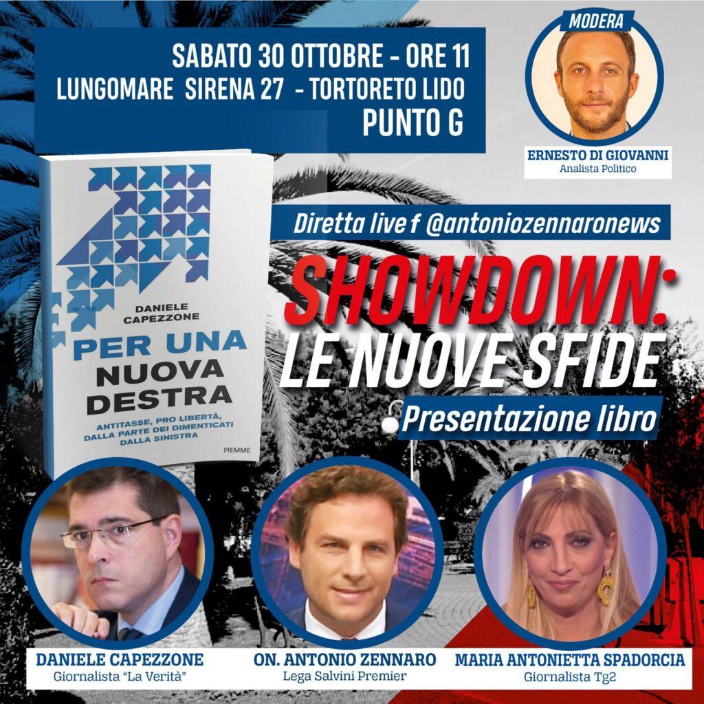 """Tortoreto, """"Per una nuova destra"""": Capezzone, Spadorcia e Zennaro il 30 ottobre"""